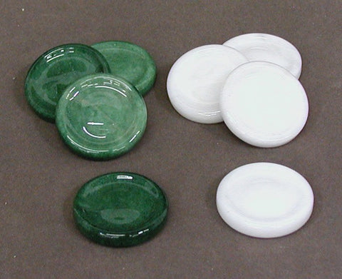 Green & White Alabaster Checkers