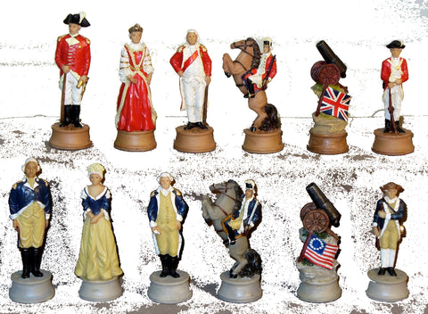 American Revolution Chessmen