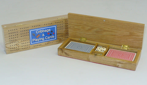 Cribbage Box with Cards