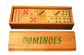 Wood Color Dot Dominoes