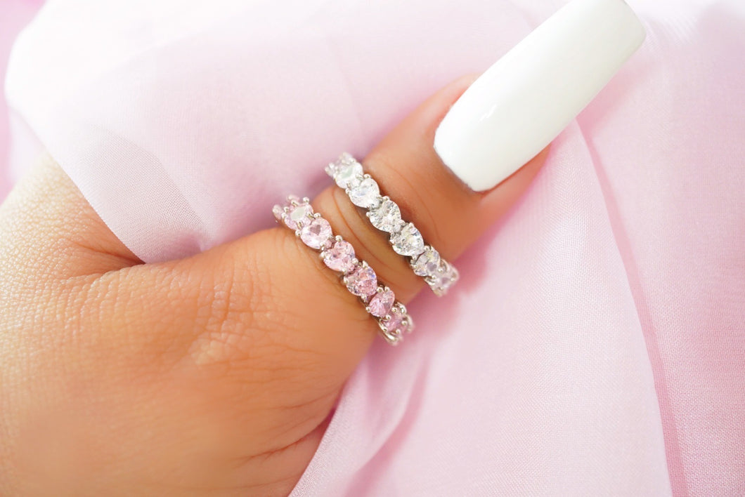 Heart You for Eternity Ring (Pink)