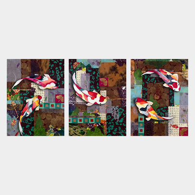 Flowing in Harmony Triptych (Set of 3)