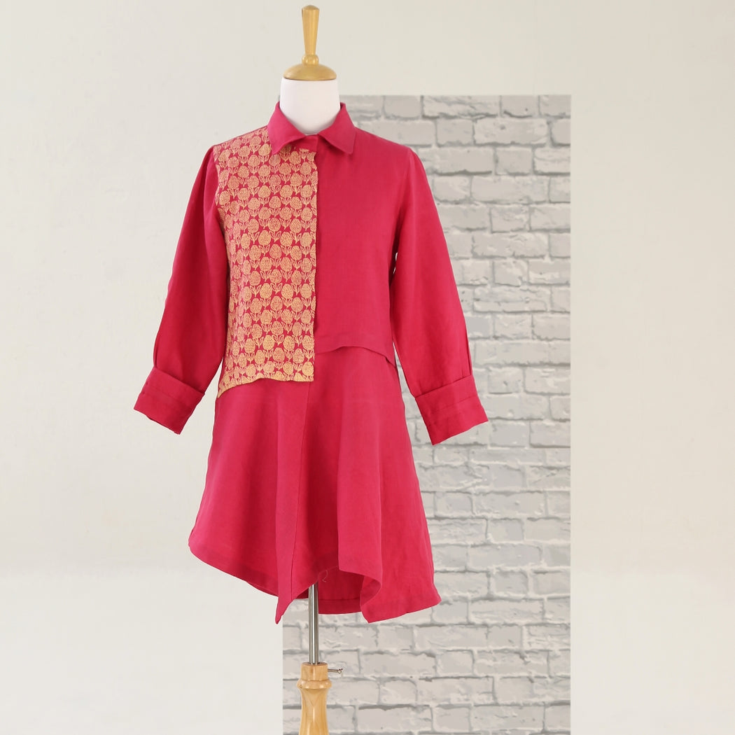 Copy of Design 12 - Shirt Dress - Hot Pink