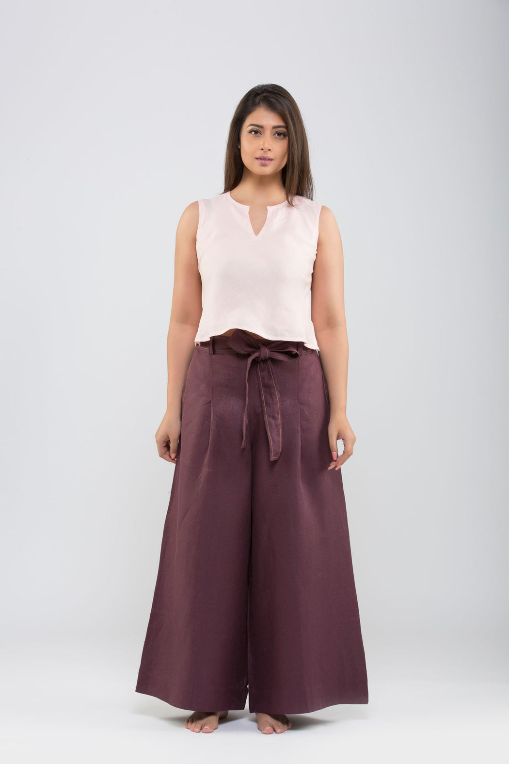 Linen Flared Pants<br>(Fig)