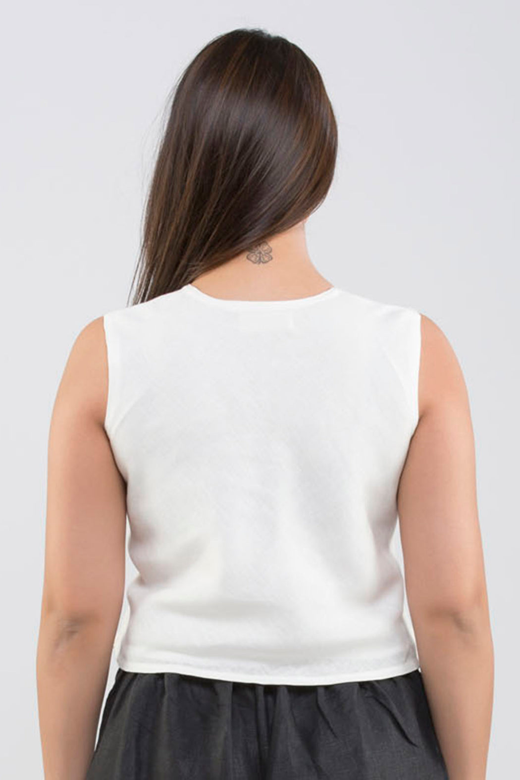 Linen Sleeveless Top <br> ( Cloud Dancer - Off White )