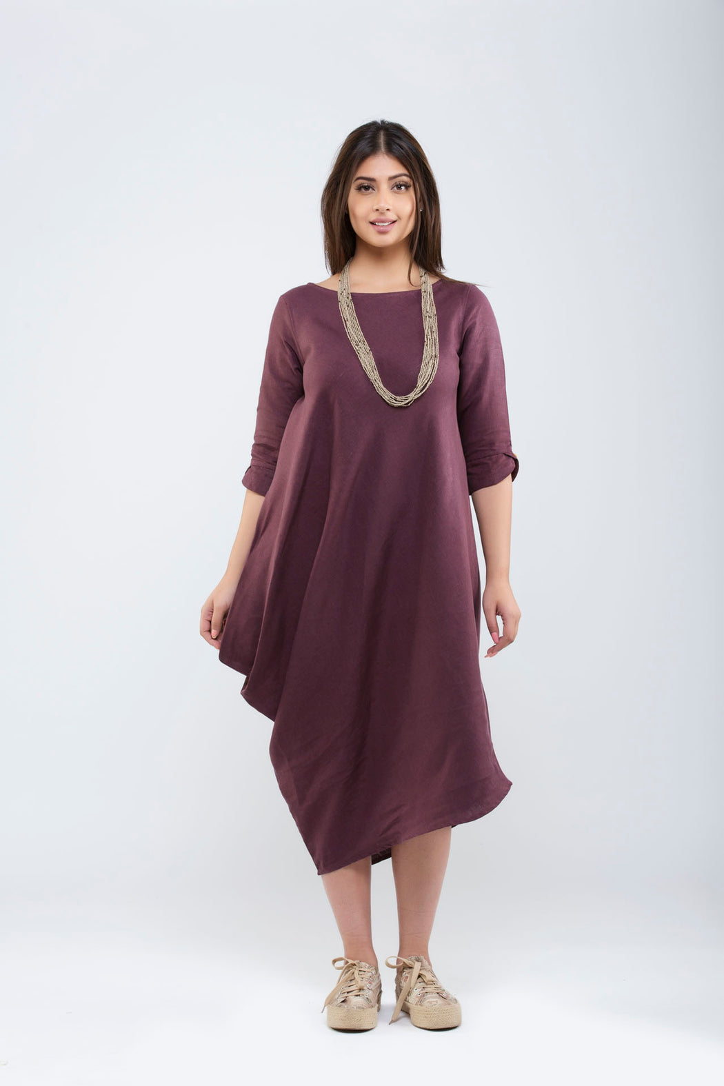One Side Cowl Dress <br> (Fig)