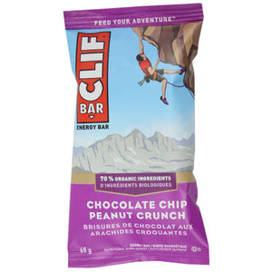 Clif Bar - Chocolate Chip Peanut Crunch - Case of 12 x 68g