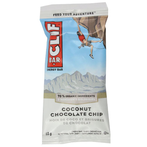 Clif Bar - Coconut Chocolate Chip - Case of 12 x 68g