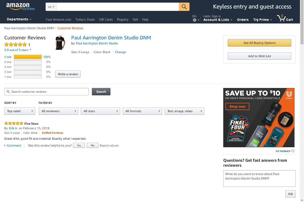 Paul Aarrington Denim Studio Scores Again On Amazon