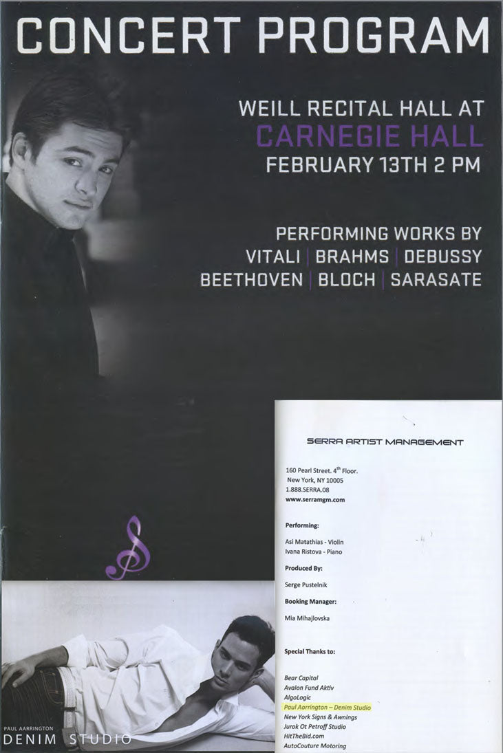 Carnegie Hall Concert Program Image