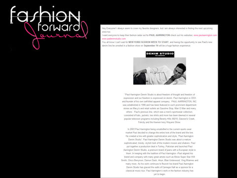 Fashion Forward Magazine