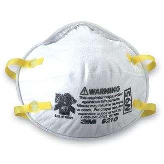 3M™  N95 Particulate Respirator Mask Cup Elastic Strap One Size Fits Most White NonSterile