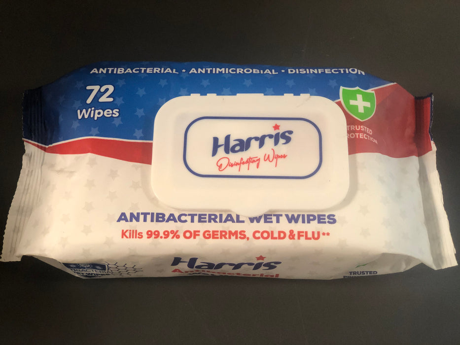 Disinfecting wipes Antimicrobial Kills 99.9% of Viruses 72/package