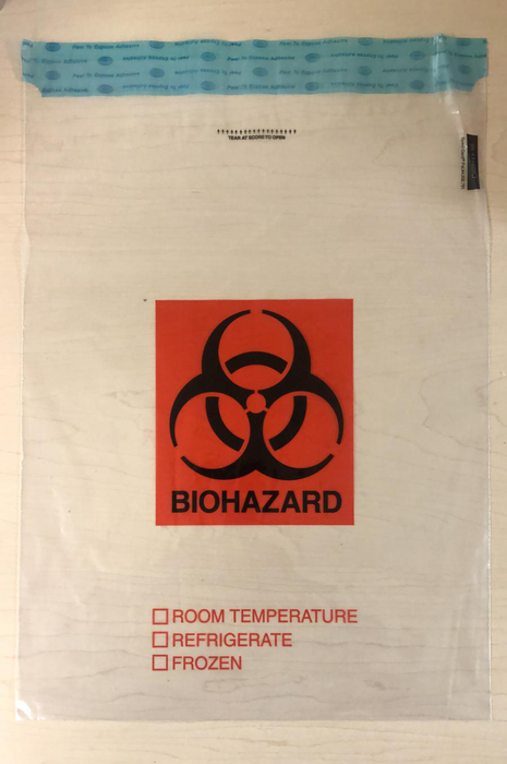 "Biohazard Transport Bag 13""X18"" (1000/case)"