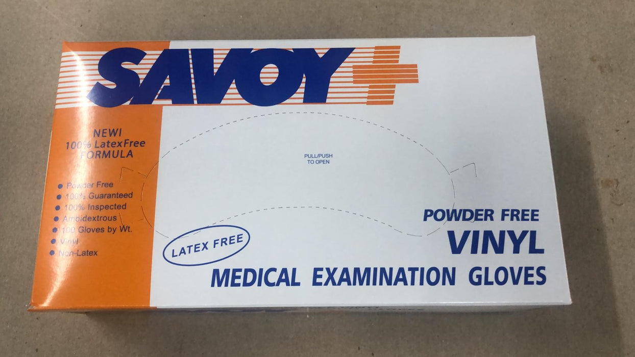 Savoy Synthetic  Powder-Free exam Gloves (100 gloves /box