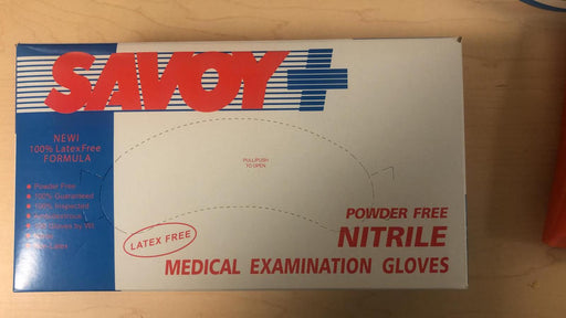 NITRILE Powder Free Medical Examination Gloves (1bx/100 gloves)