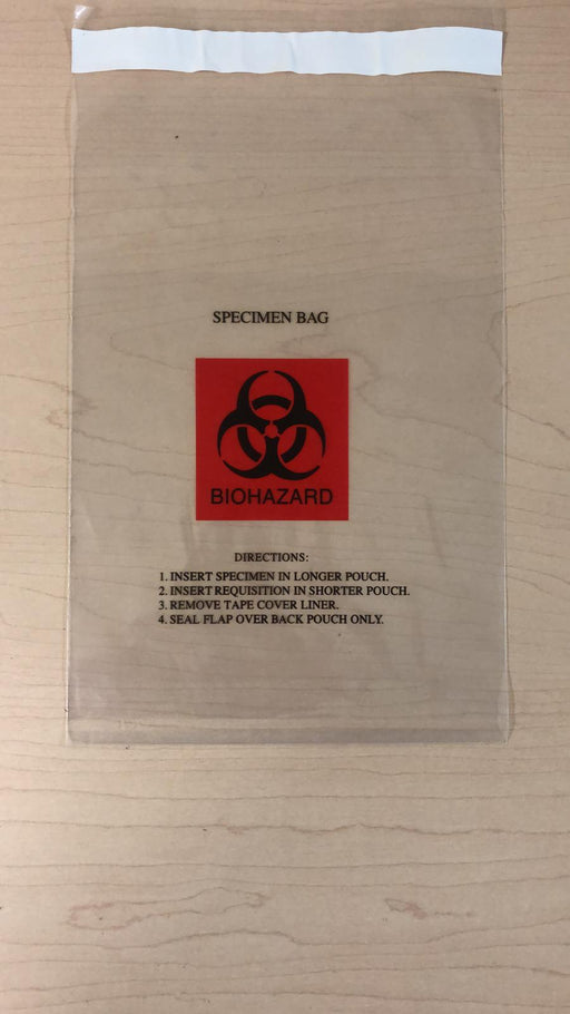 Biohazard Specimen Bag (100/package)