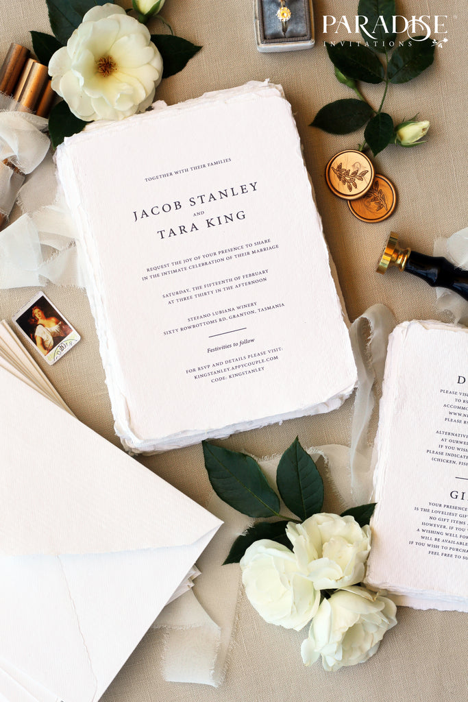 Violette Handmade Paper Wedding Invitation