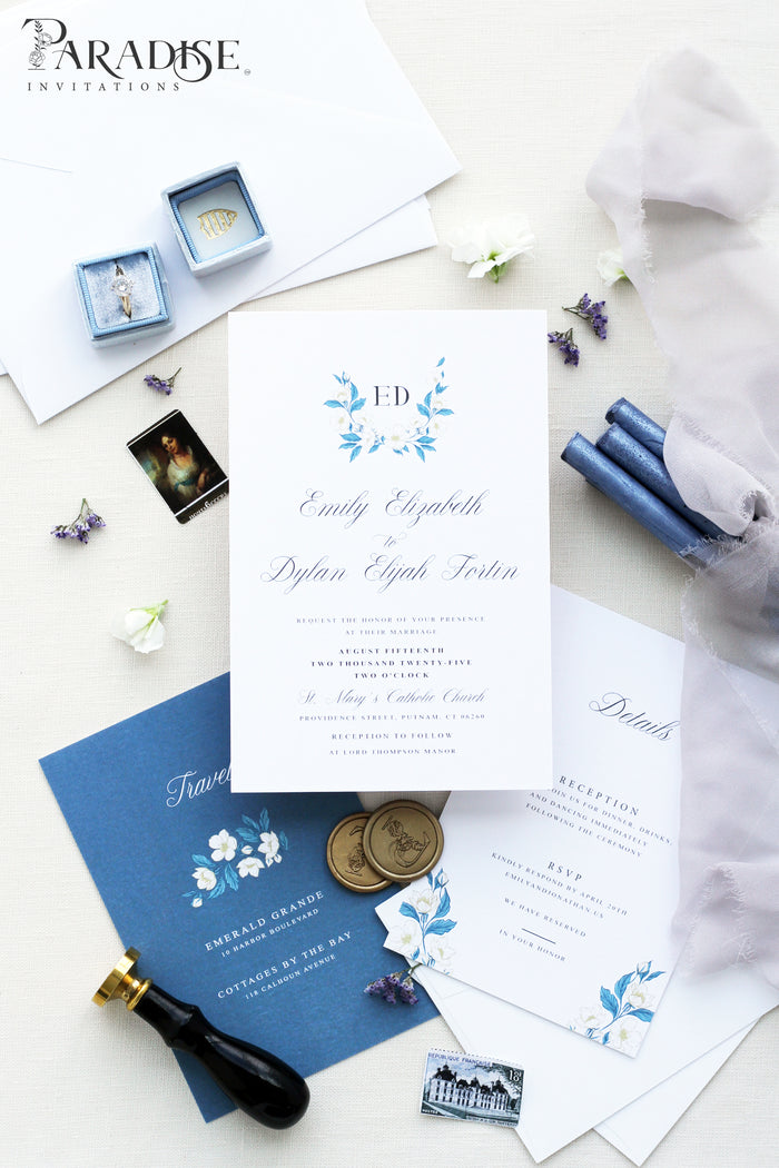 Devana Monogram Wedding Invitation Sets
