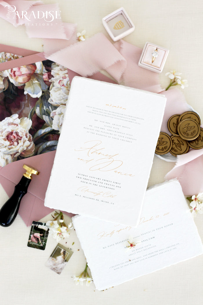 Adira Handmade Paper Wedding Invitation Sets