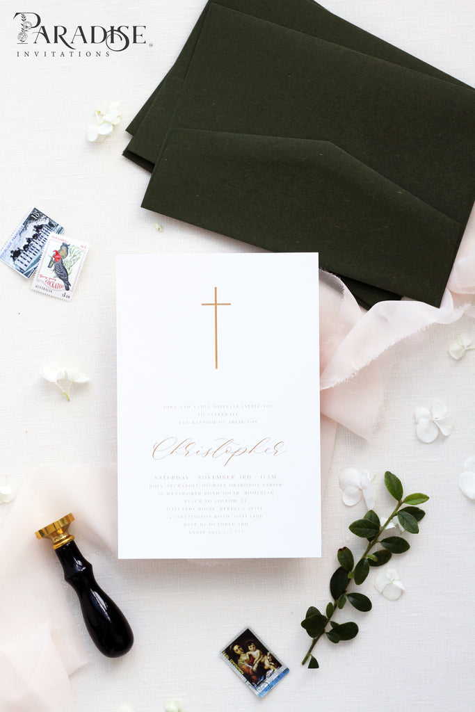 Mallory Elegant Christian Invitation