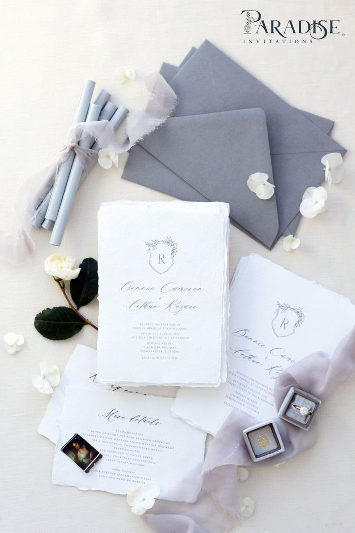Danielle Handmade Paper Wedding Invitation Sets