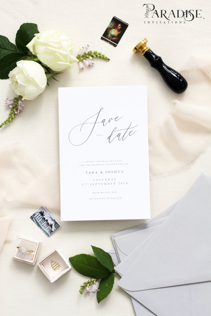 Nynette Elegant Save the date cards