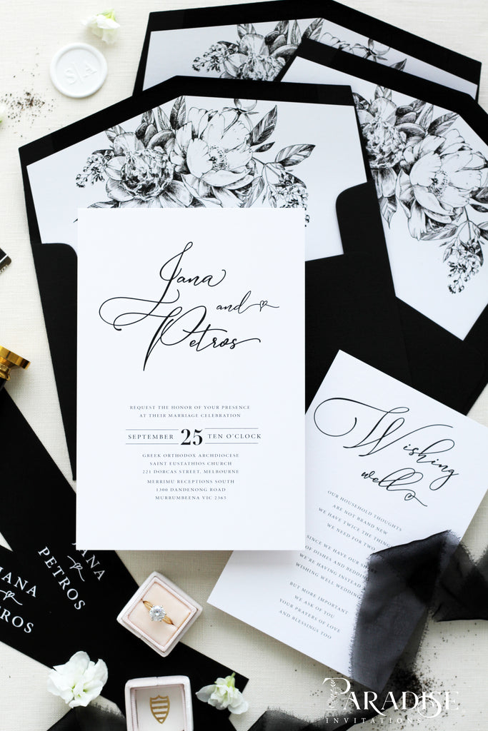 Macee Calligraphy Wedding Invitation Sets
