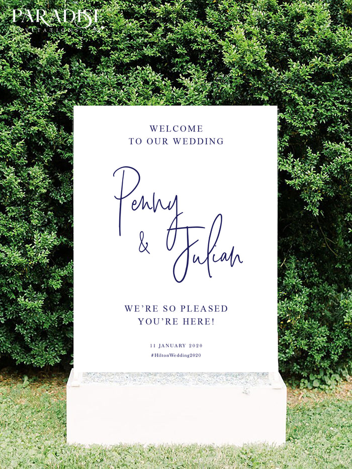 Fernande Wedding Welcome Sign