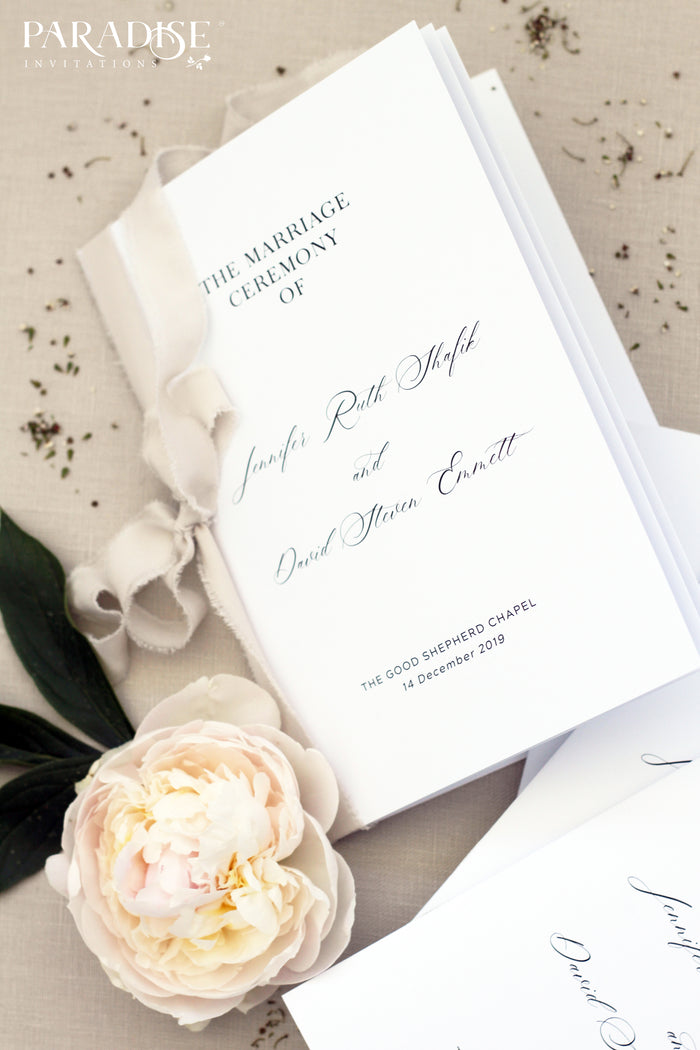Royale Elegant Wedding Program