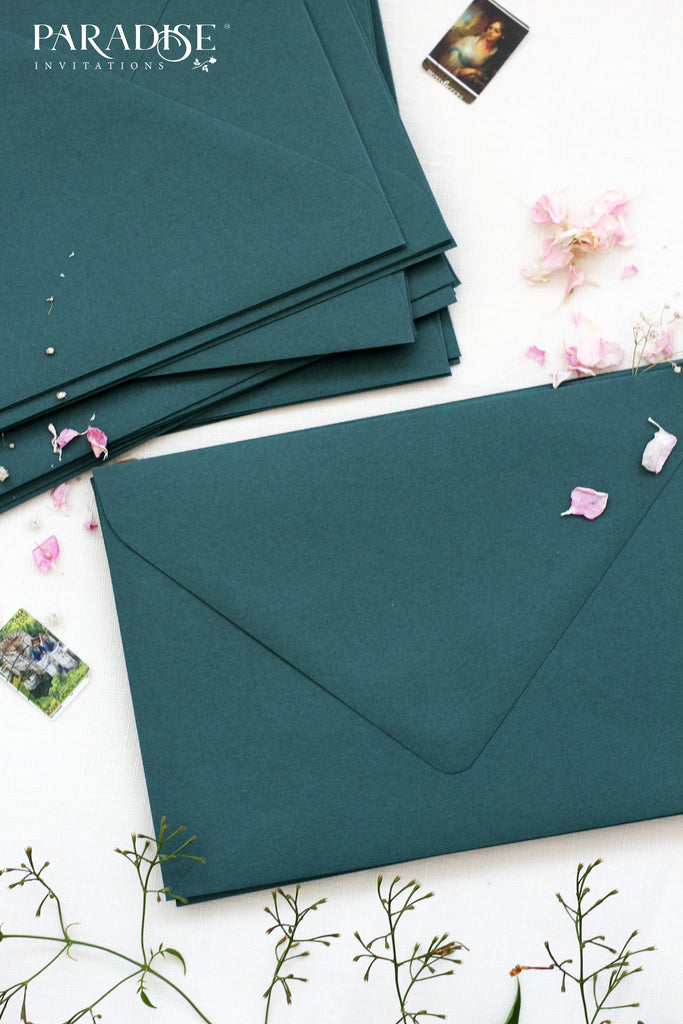 Emerald Wedding Envelopes
