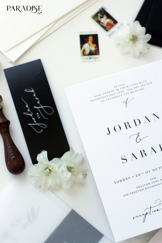 Juillet Elegant Wedding Invitations