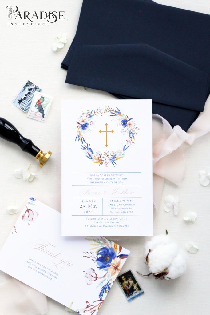 Majori Monogram Christian Invitation