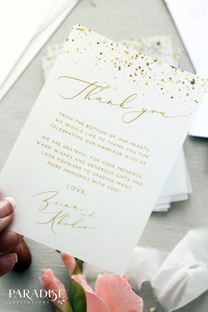 Bernice Vellum Thank You Card