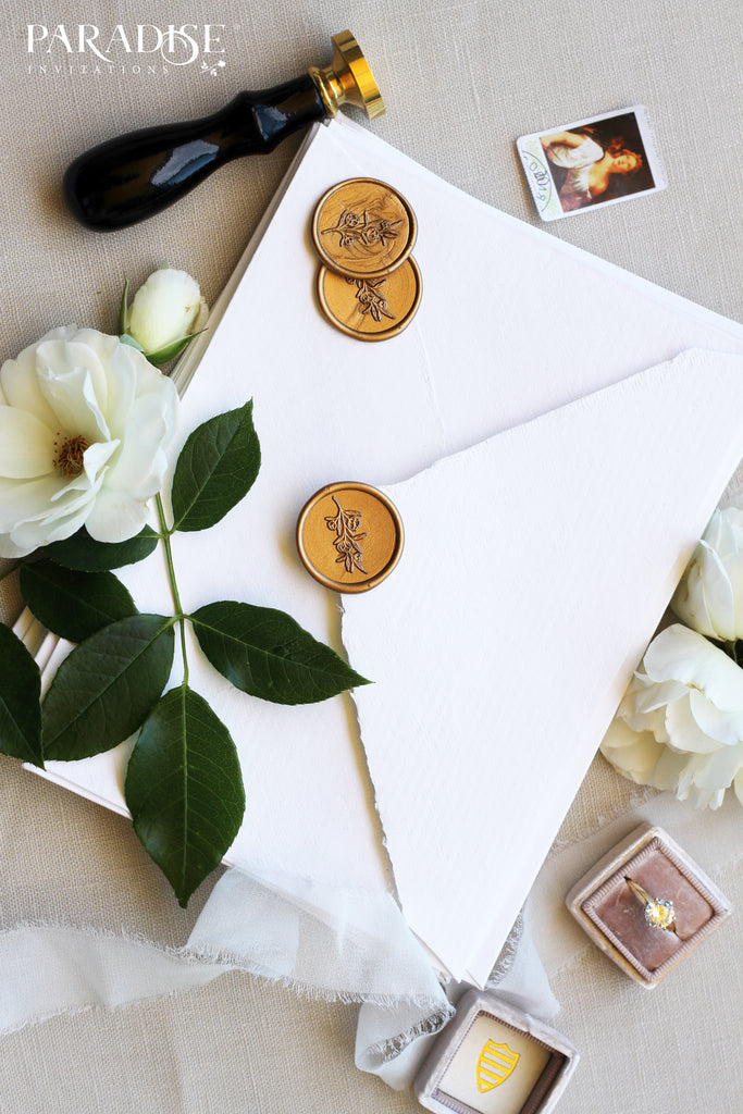 Floral Branch Monogram Wax Seals
