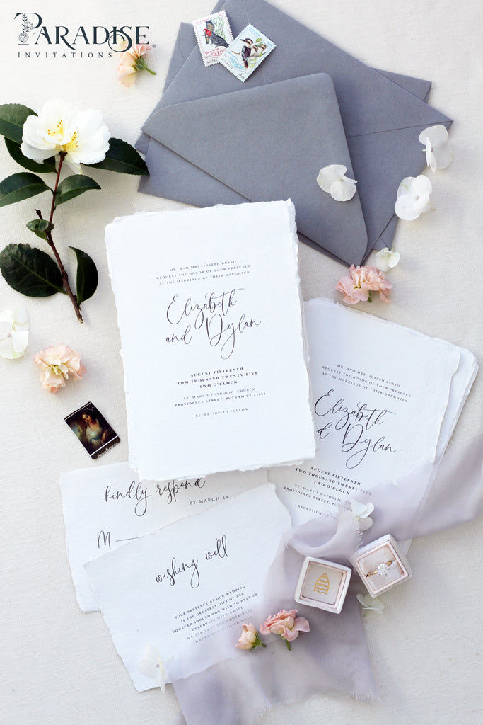 Denissa Handmade Paper Wedding Invitation Sets