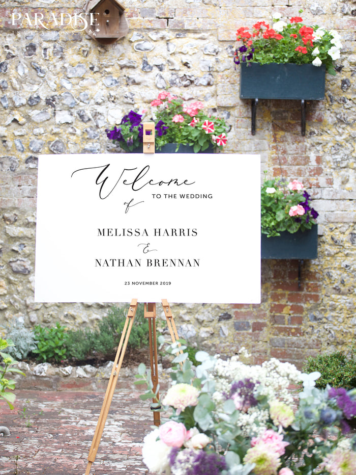 Isabeau Wedding Welcome Sign