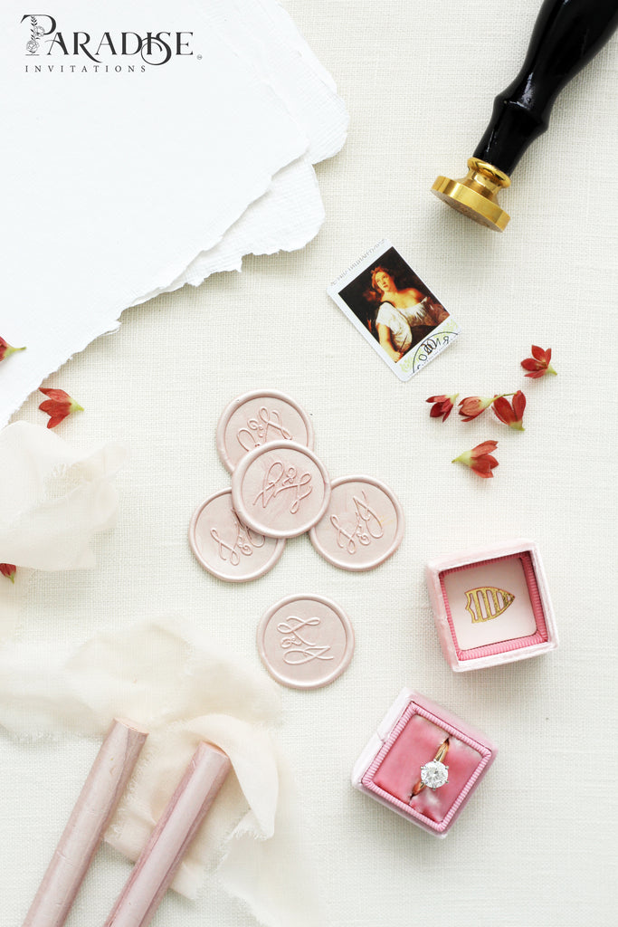 Blush Metallic Wax Seals