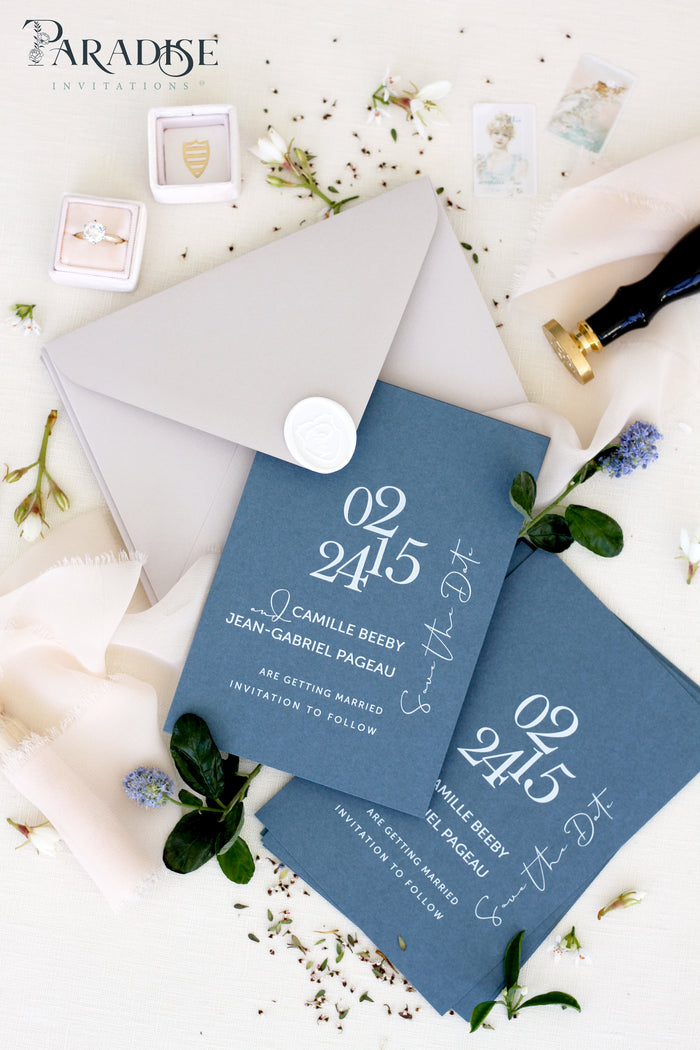 Marina Paper Stone Envelopes Save the Date Cards
