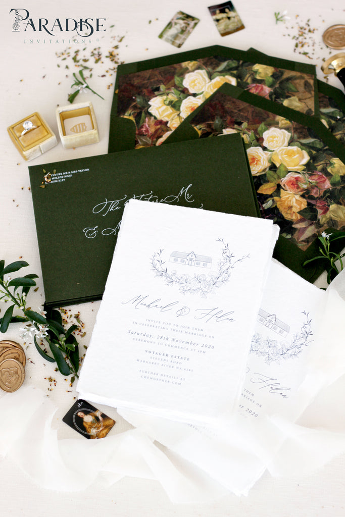 Evianna Handmade Paper Wedding Invitation Sets