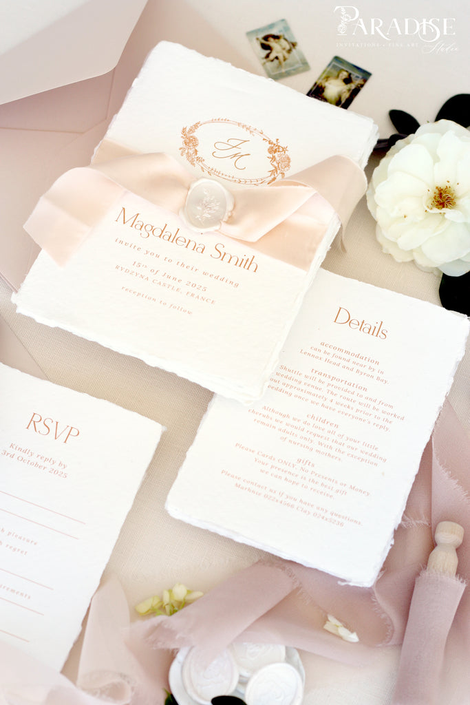 Darby Handmade Paper Wedding Invitation Sets