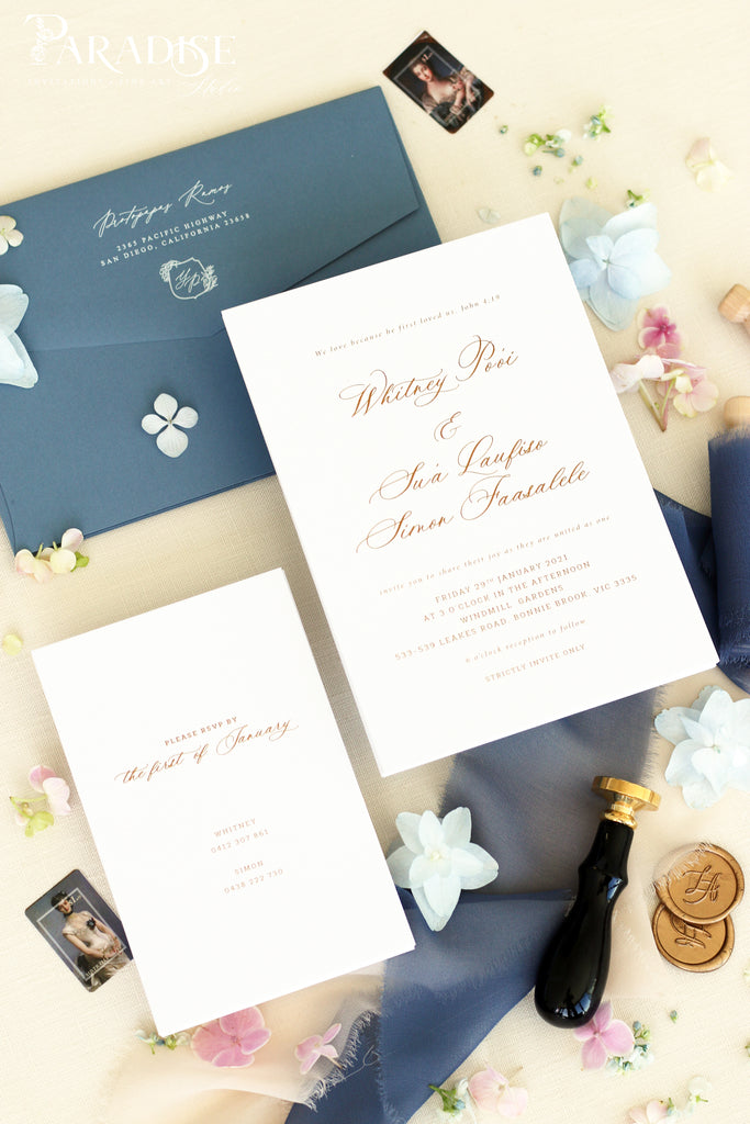Luciana Calligraphy Wedding Invitation Sets