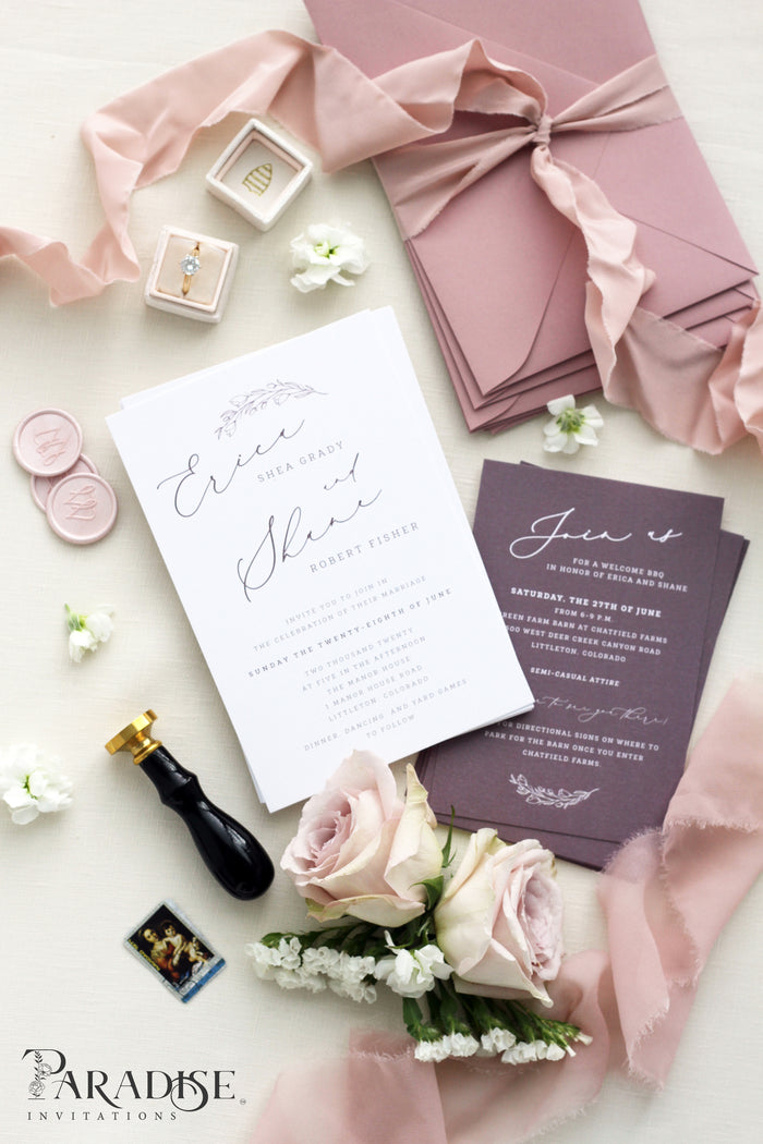 Carol Calligraphy Wedding Invitation Sets