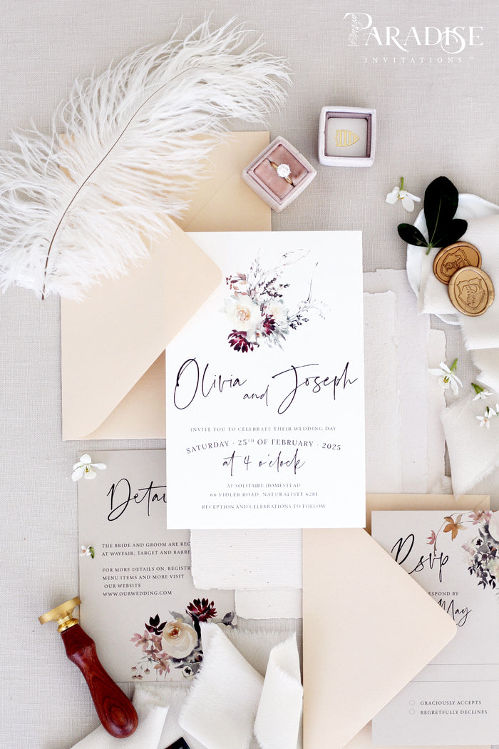 Margaret Floral Wedding Invitation Set