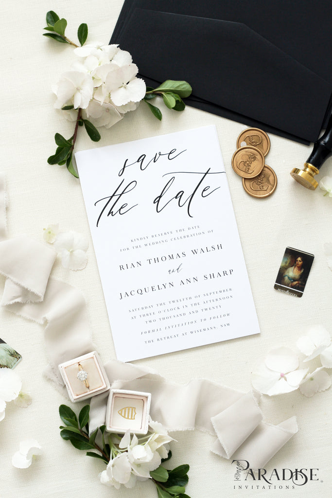 Claudette Calligraphy Save the Date