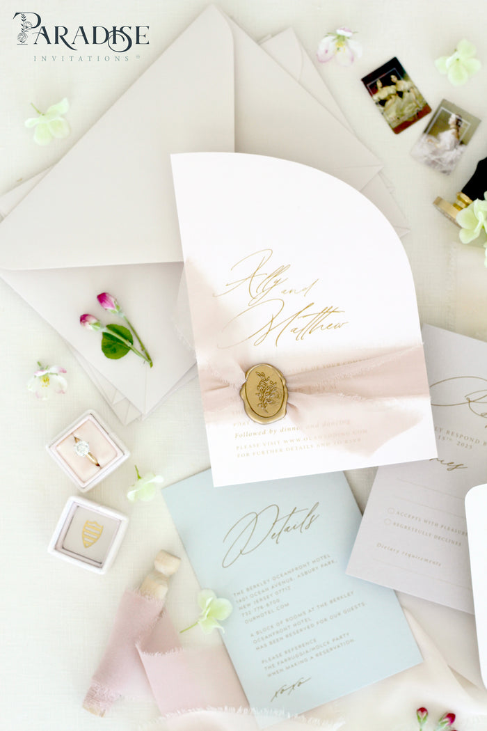 Rosalind Half Arch Wedding Invitation Sets