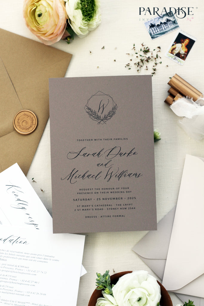 Alete Floral Bohemian Style Wedding Invitation