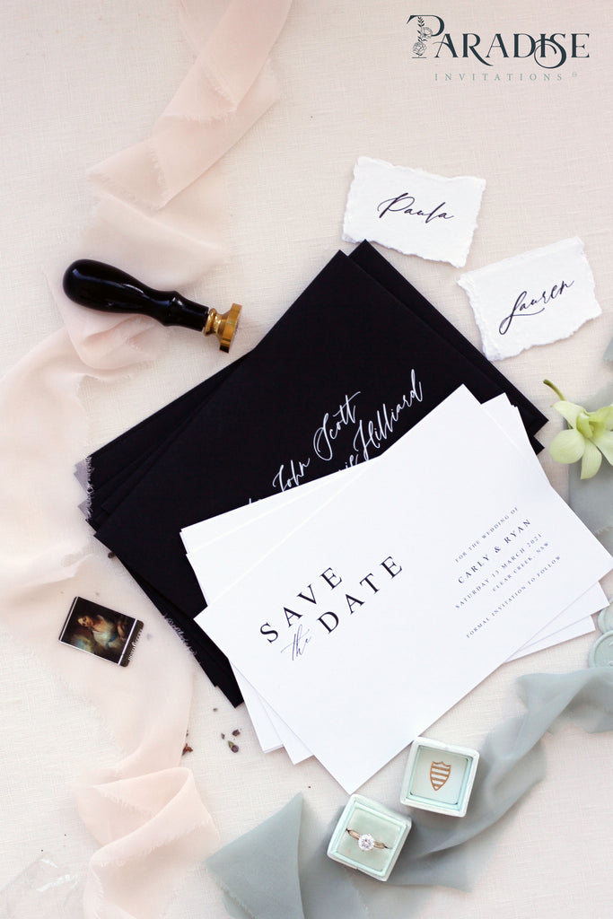 Maurine Elegant Save the Date Cards