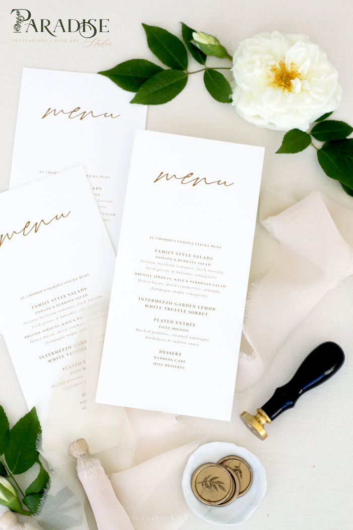 Alisa Calligraphy Wedding Menus