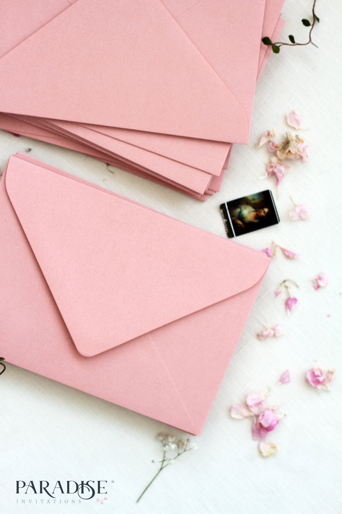 Dusty Pink Envelopes
